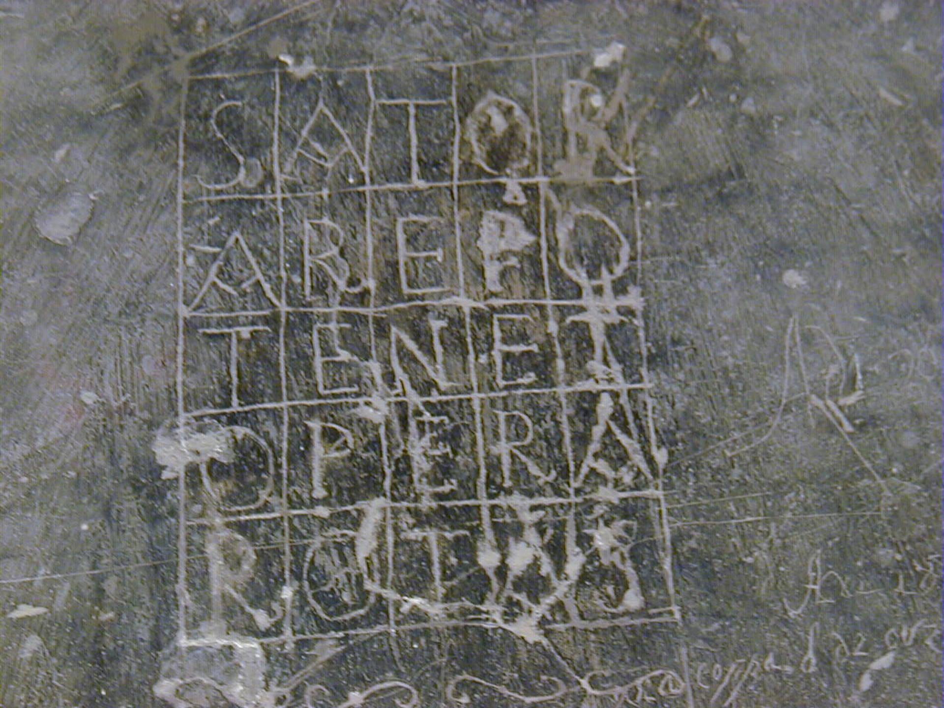 Il quadrato del Sator nelle Marche